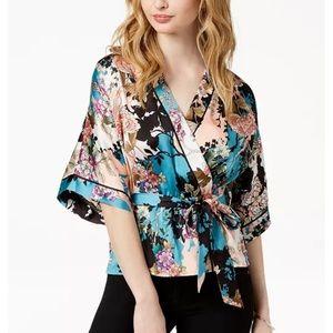 Guess Shaikira printed kimono style blouse